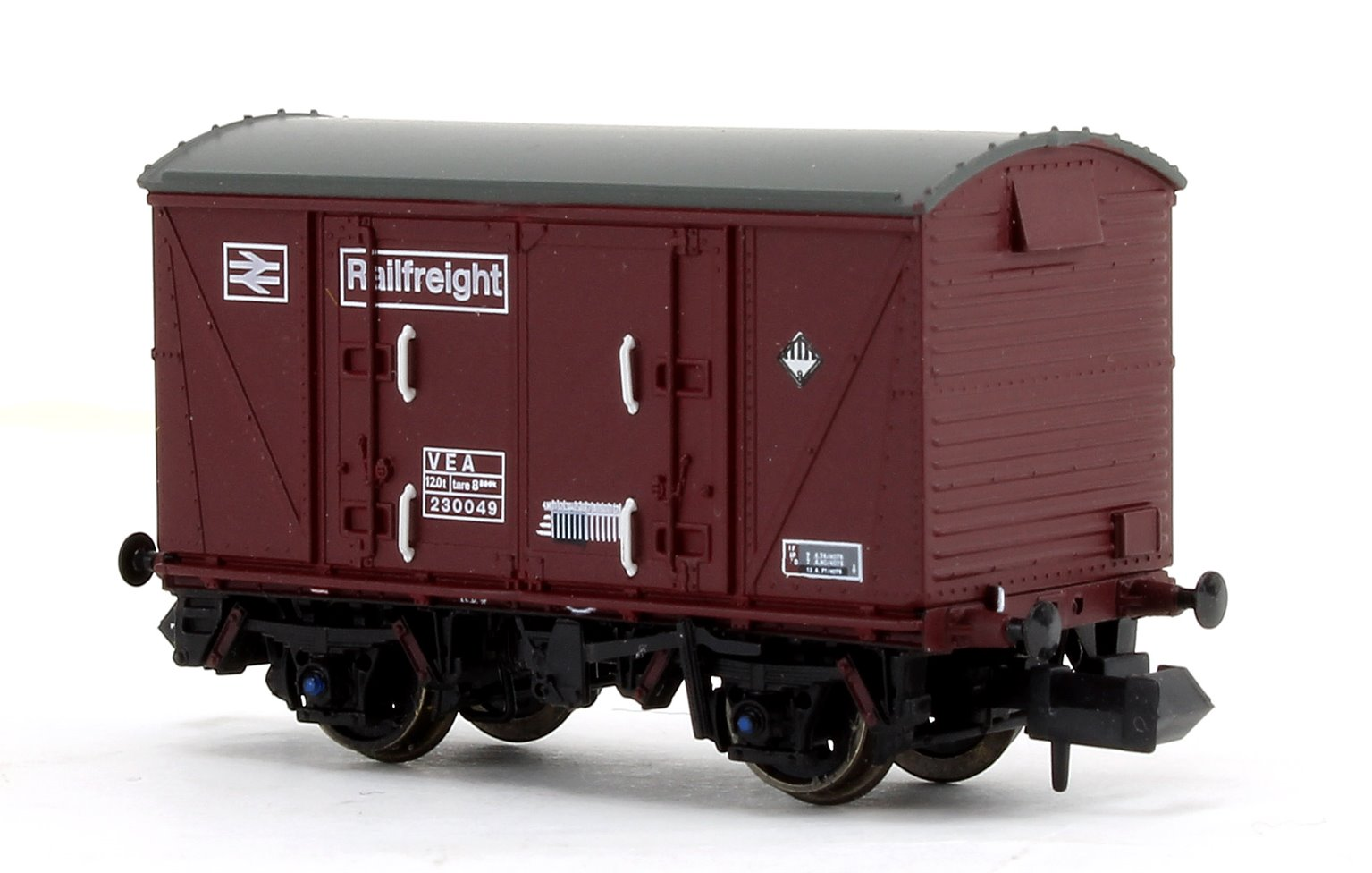 BR Maroon (Pristine) Railfreight VEA Munitions Van #230049