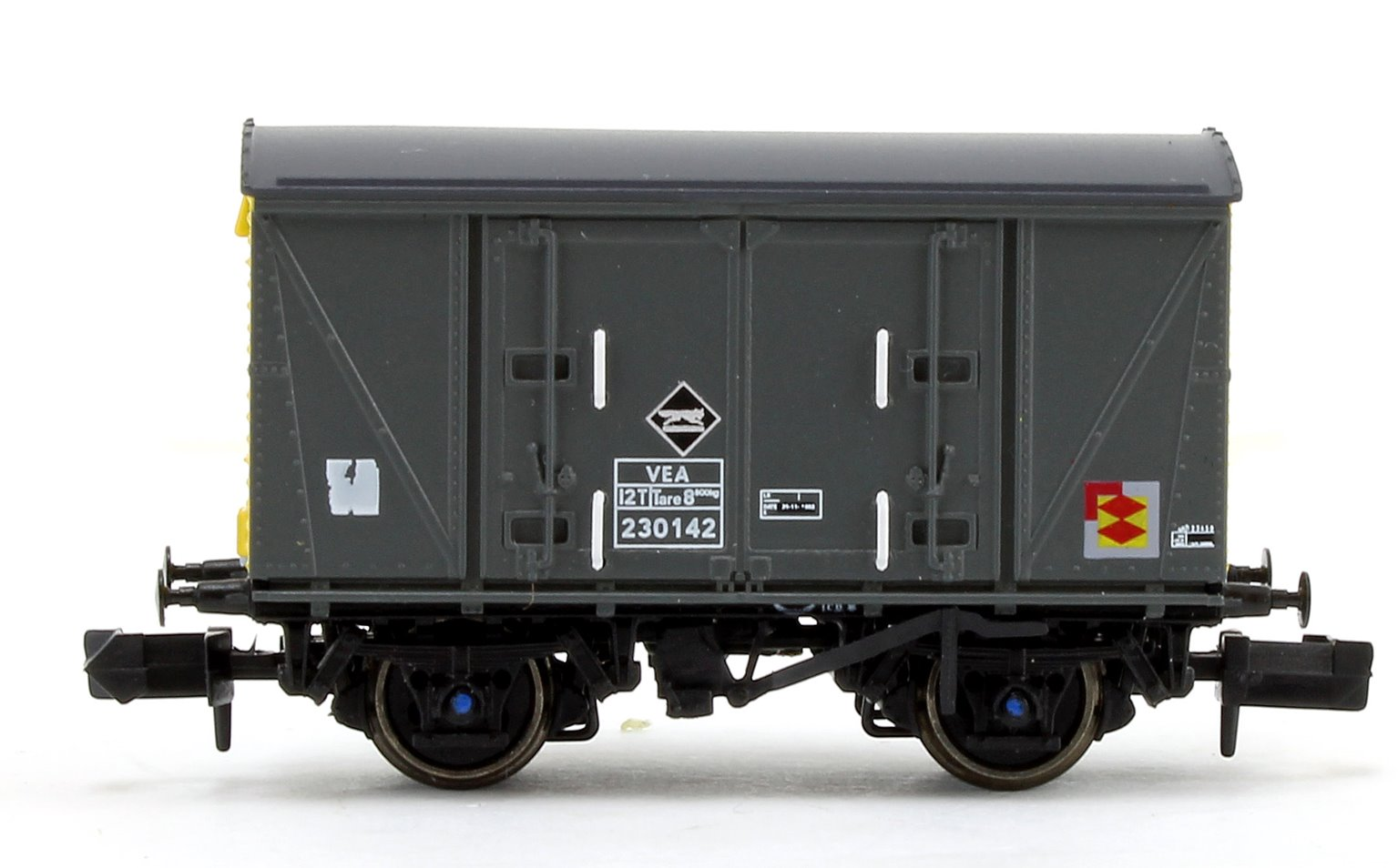 Railfreight Distribution Grey/Yellow (Pristine) VEA Munitions Van #230142
