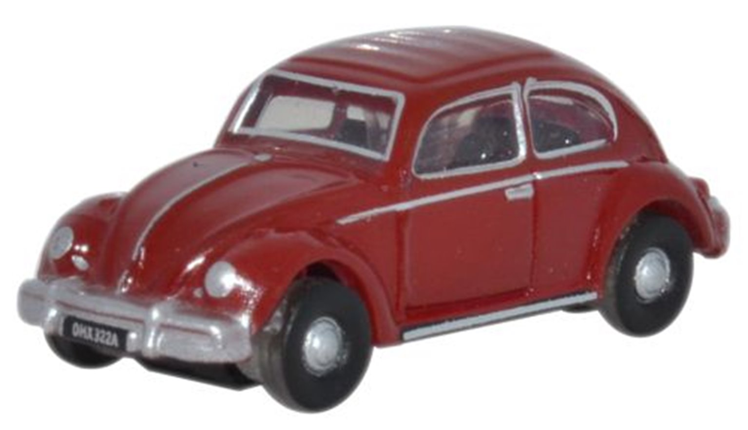 Oxford Diecast NVWB002 Ruby Red VW Beetle