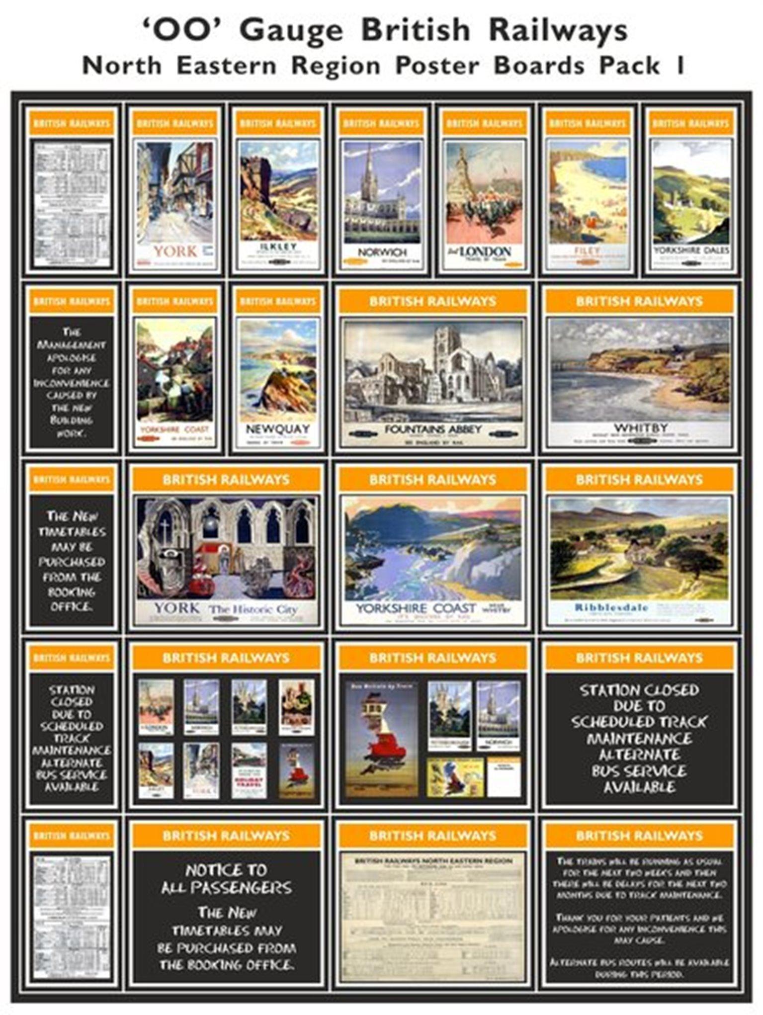 British Railways North Eastern Region Poster Boards Pack 1