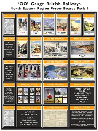 British Railways North Eastern Region Poster Boards Pack 1