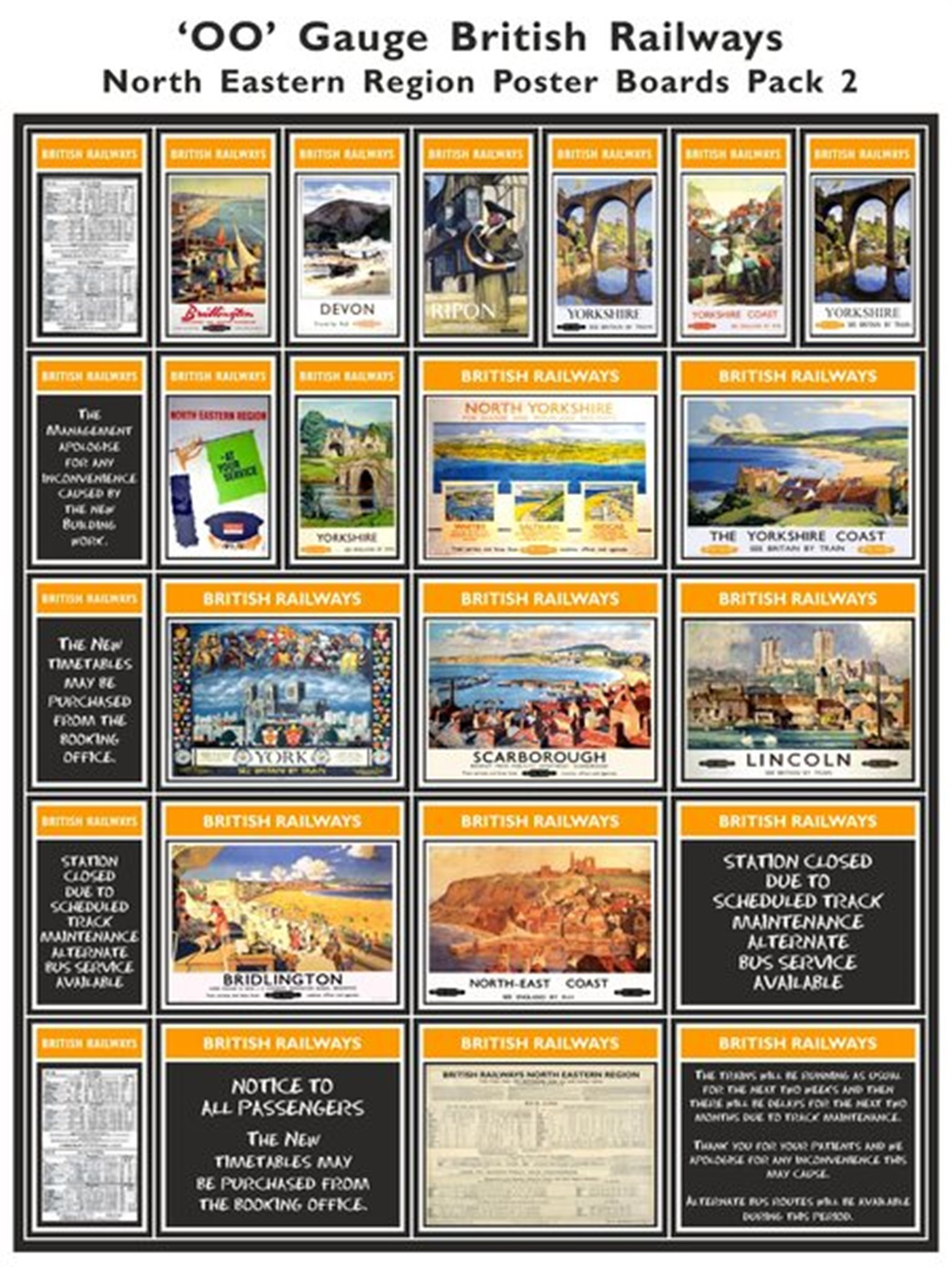 British Railways North Eastern Region Poster Boards Pack 2