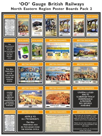 British Railways North Eastern Region Poster Boards Pack 2