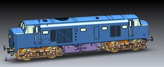 Class 23 Baby Deltic Diesel Locomotive D5909 BR Blue with full yellow front end