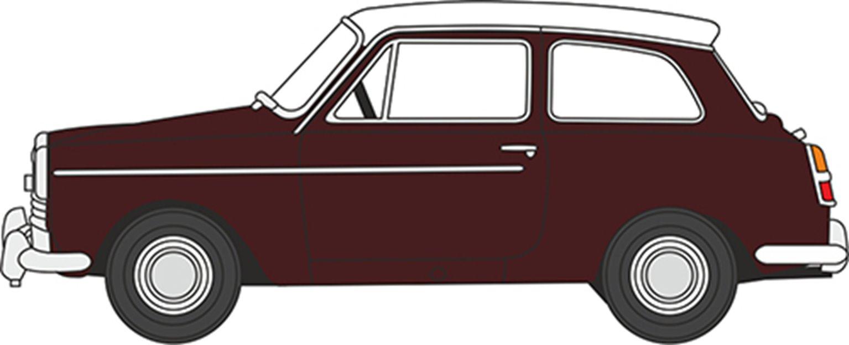 76AA007 Austin A40 MkII Maroon B/Snowberry White