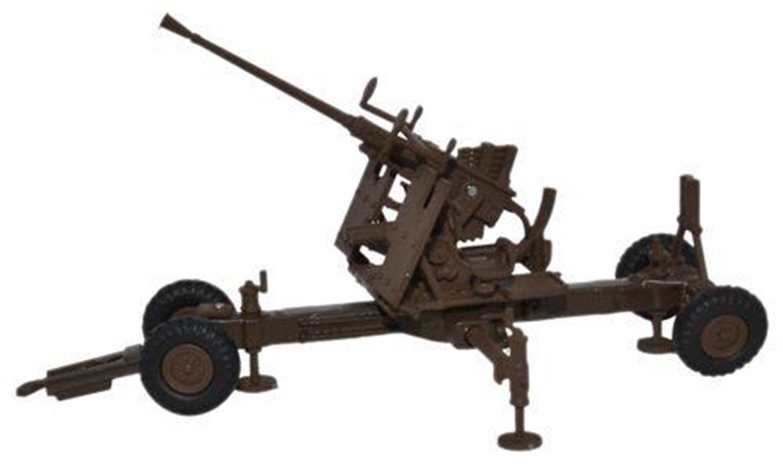 Oxford Diecast 76BF001 Bofors Gun 40mm Brown