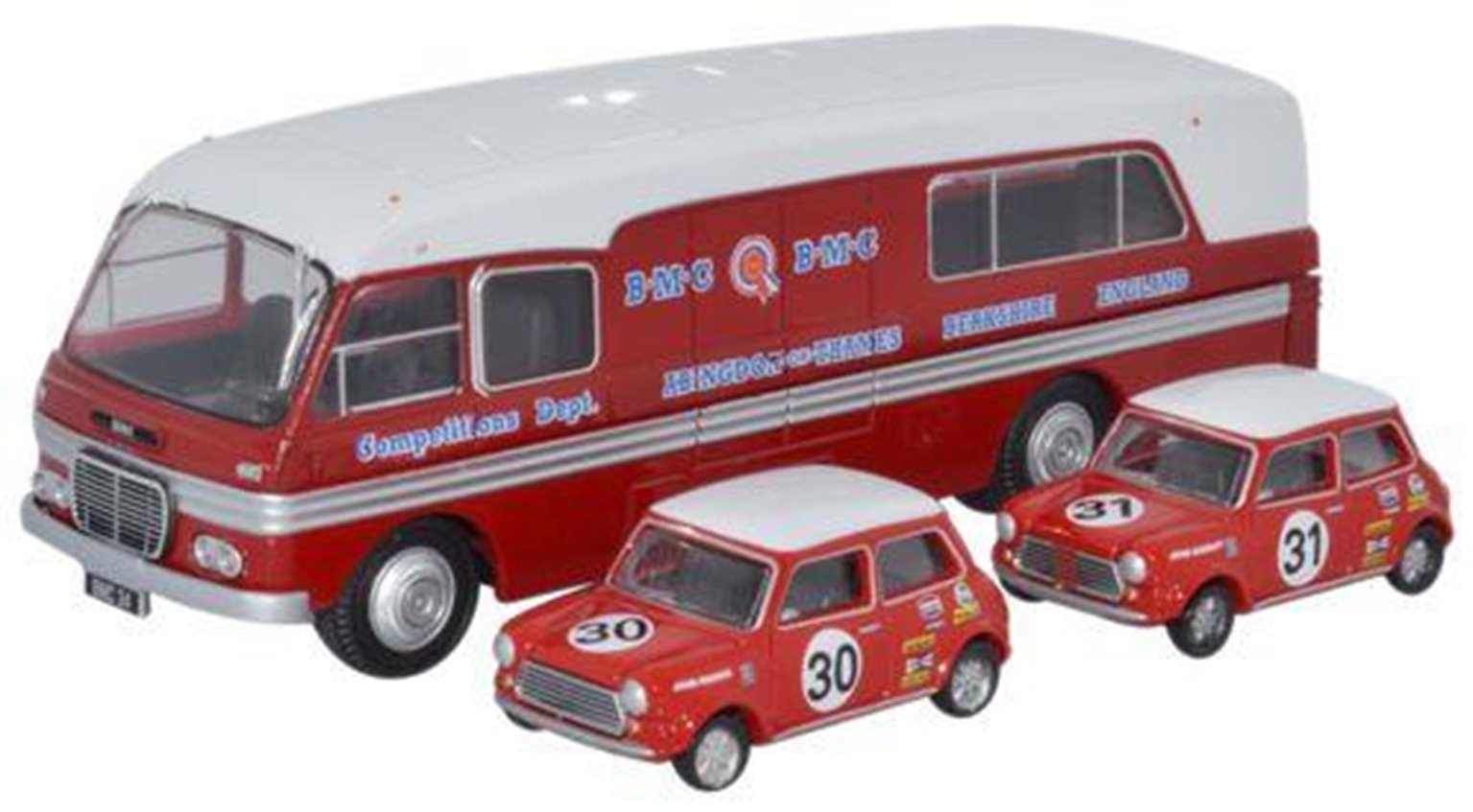 BMC Car Transporter & Two Minis BMC Competitions (B)