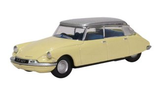 76CDS006 Citroen DS19 Jonquil Yellow/Silver