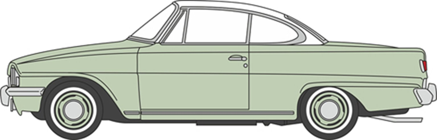 Ford Consul Capri Lime Green/Ermine White