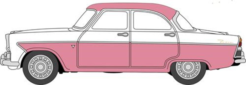 Ford Zodiac MkII Ermine White and Pink
