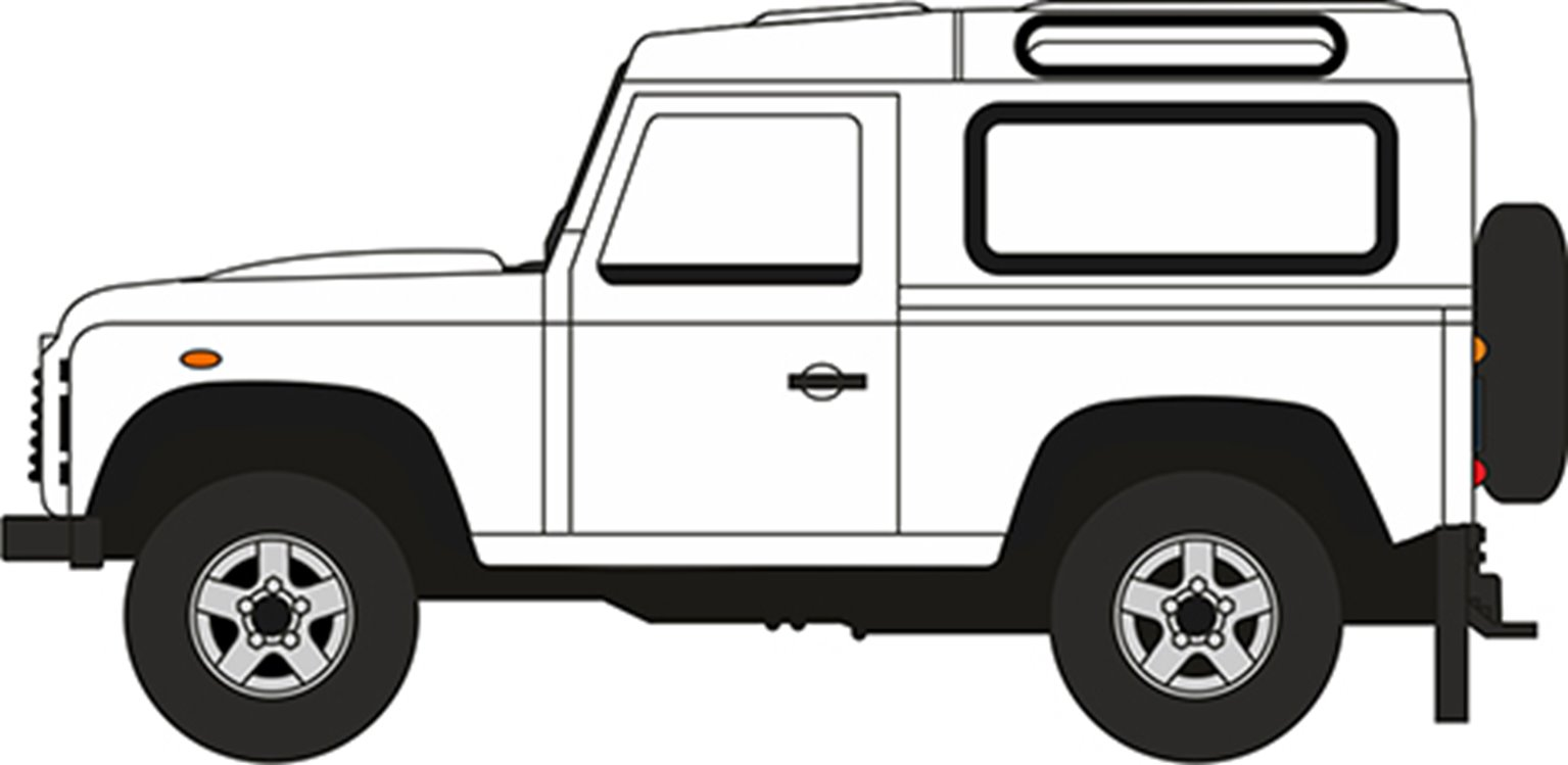 76LRDF012 Land Rover Defender 90 Station Wagon White (HK Reg)