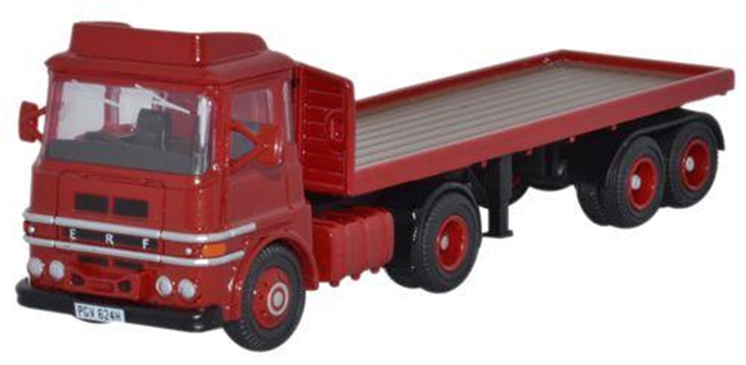 ERF LV Flatbed in red