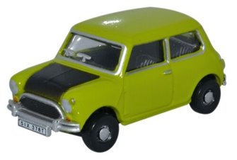 Oxford Diecast 76MN005S Austin Mini Lime Green