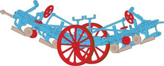 Fowler Plough Blue/Red