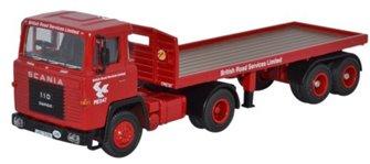 Scania 110 Flatbed Trailer BRS