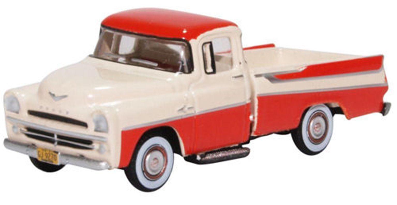 Dodge D100 Sweptside Pick Up 1957 Coral/Glacier White