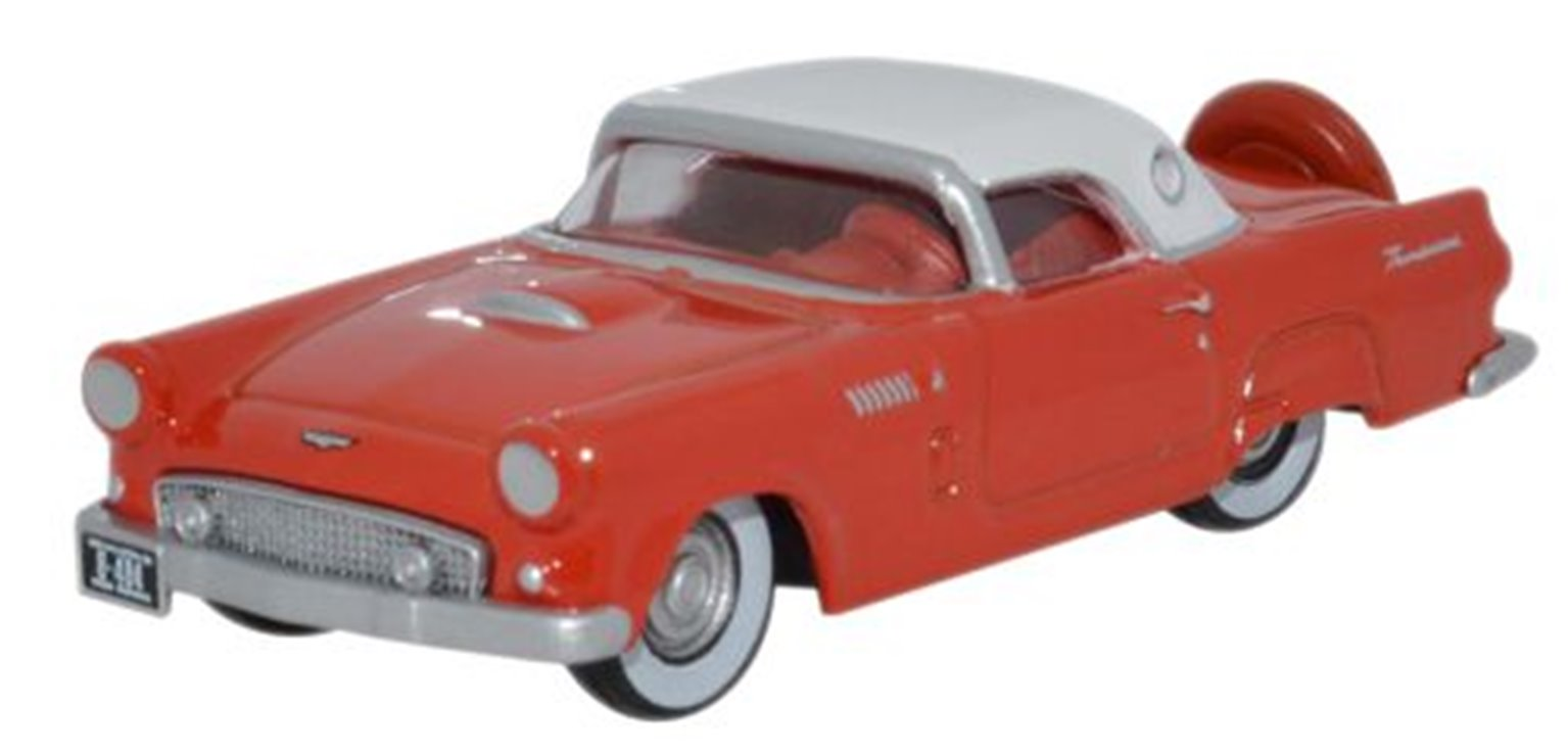 Ford Thunderbird 1956 Fiesta Red_Colonial White