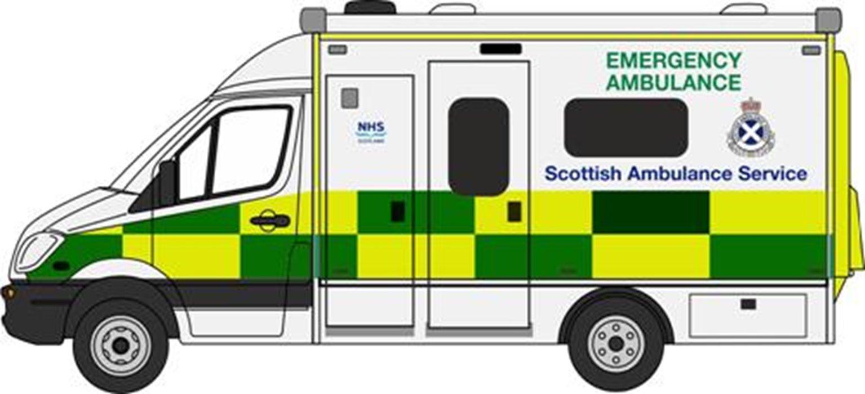 Mercedes Ambulance Scottish Ambulance Service