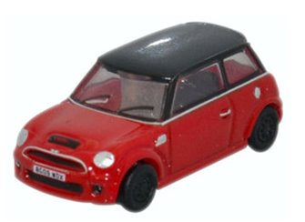 Oxford Diecast NNMN001 New Mini Cooper S Chili Red