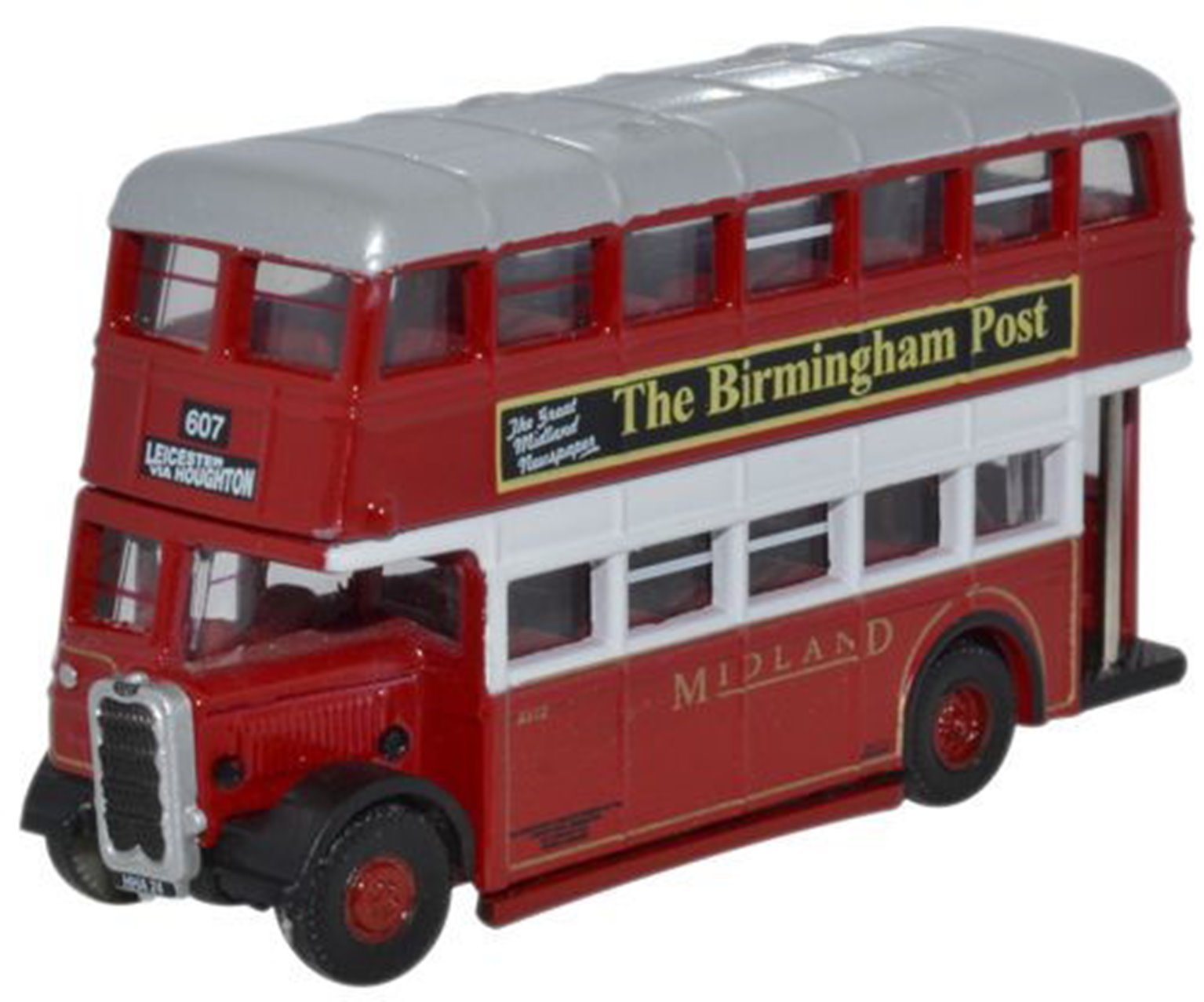 Oxford Diecast NUT003_1 Guy Arab Utility Midland Red - Correct Colour