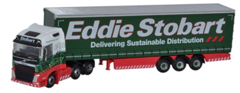 Oxford Diecast NVOL4001 Volvo FH4 Curtainside Eddie Stobart