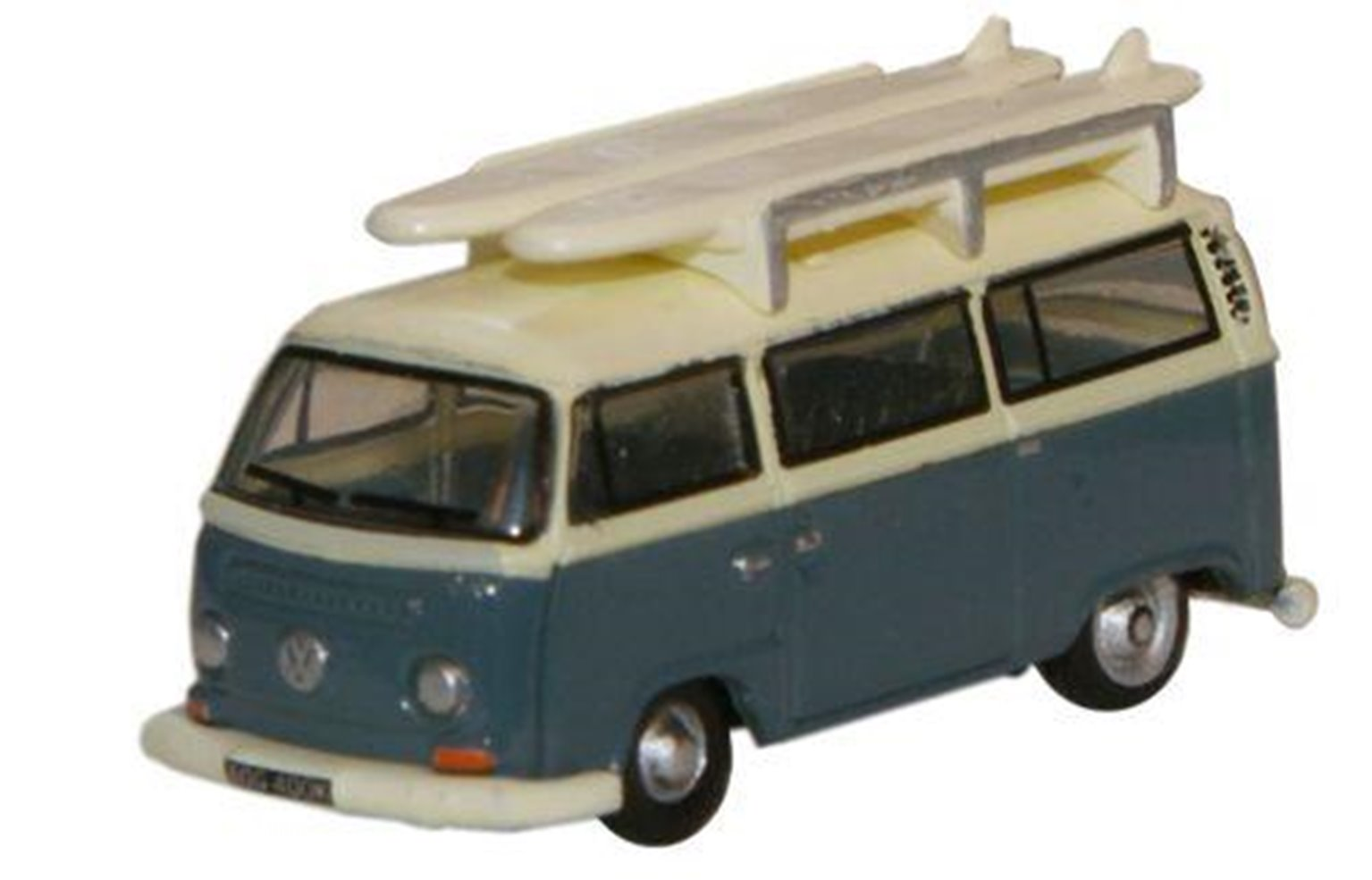 Oxford Diecast NVW003 Ford Blue Arcona White VW Minibus