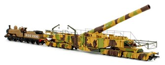 Rail Gun Pack - WWI Boche Buster Camouflage Railgun with ROD 2330 Khaki 0-6-0 Dean Goods Locomotive