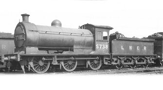 Class J26 LNER 0-6-0 Steam Locomotive No.5738