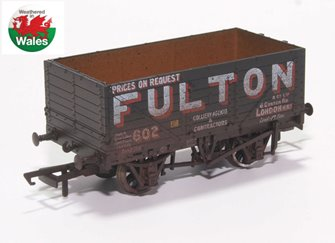 7 Plank Mineral Wagon - Fulton Coal Weathered