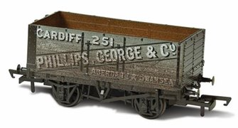 7 Plank Mineral Wagon - Phillips George & Co 251 Weathered