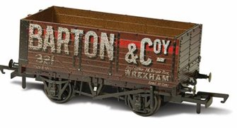 7 Plank Mineral Wagon - Barton and Co No.321 Weathered