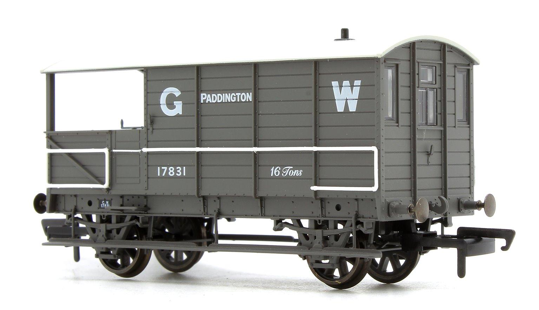 OR76TOB001 Oxford Rail OO GWR Toad Brake Van Planked Paddington Early