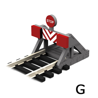 G Scale Buffer Stop w/Assorted Decals (2 pcs)