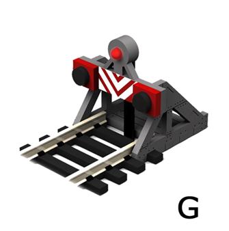 G Scale Buffer Stop w/Light (2 pcs)