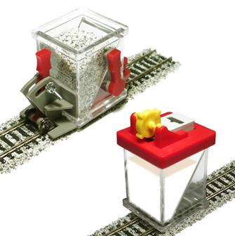 Ballast Spreader Car and Ballast Glue Applicator Set