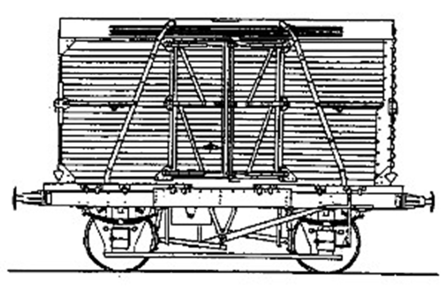 BR 'Conflat A' Container Wagon (Diag. 1/067) with BD Container Kit