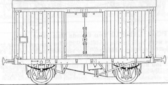 LNER/BR 10 Ton Fish Van (Diag. 134) - Insulated Body Recessed Door Kit