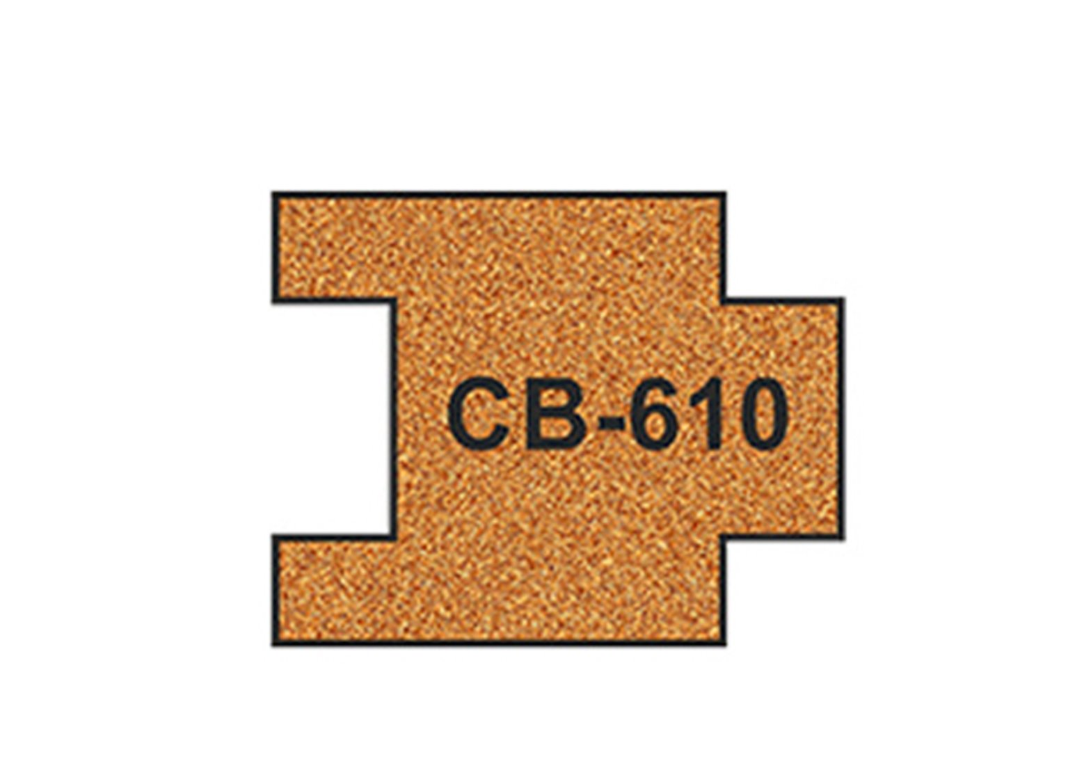 10 X Pre-Cut Cork Bed for R610 Short Straight Track