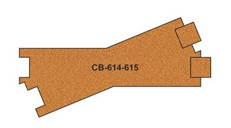 10 X Pre-Cut Cork Bed for R614-615 Cross Tracks