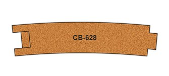 10 X Pre-Cut Cork Bed for R628 Curve Track