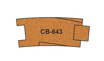 10 X Pre-Cut Cork Bed for R643 Curve Track