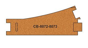 10 X Pre-Cut Cork Bed for R8072-8073 Standart Points