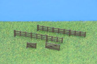 PDB152 P&D Marsh N Gauge Lineside Fencing & Gates - Unpainted