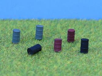 PDB496 P&D Marsh N Gauge Oil Drums - UNPAINTED