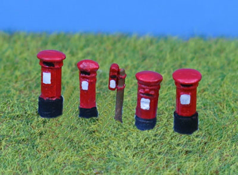 PDC18 P&D Marsh N Gauge Post Boxes  - UNPAINTED