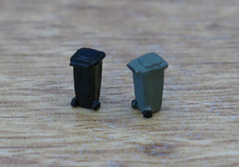 PDC36A P&D Marsh N Gauge Wheelie Bins - UNPAINTED