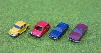 PDG06 P&D Marsh N Gauge Capri Cortina Beetle Metro Cars  - UNPAINTED