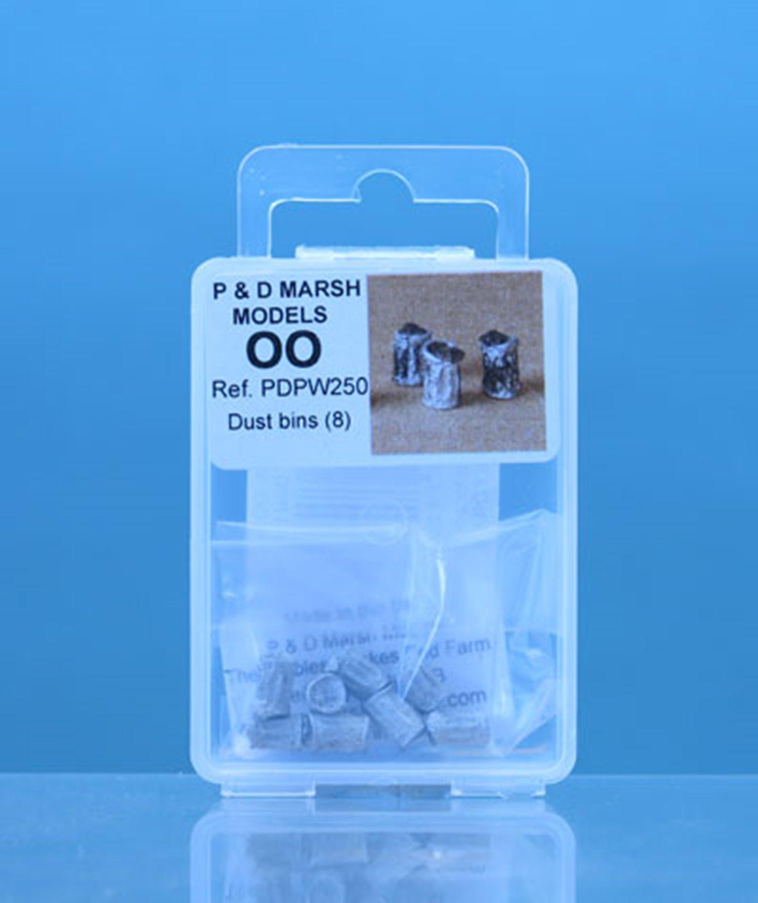 PDPW250 P&D Marsh OO Gauge Dustbins  - UNPAINTED
