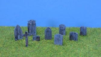 PDPW98 P&D Marsh OO Gauge Gravestones  - UNPAINTED