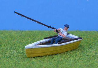 PDZ33 P&D Marsh OO Gauge Man Fishing in Rowboat